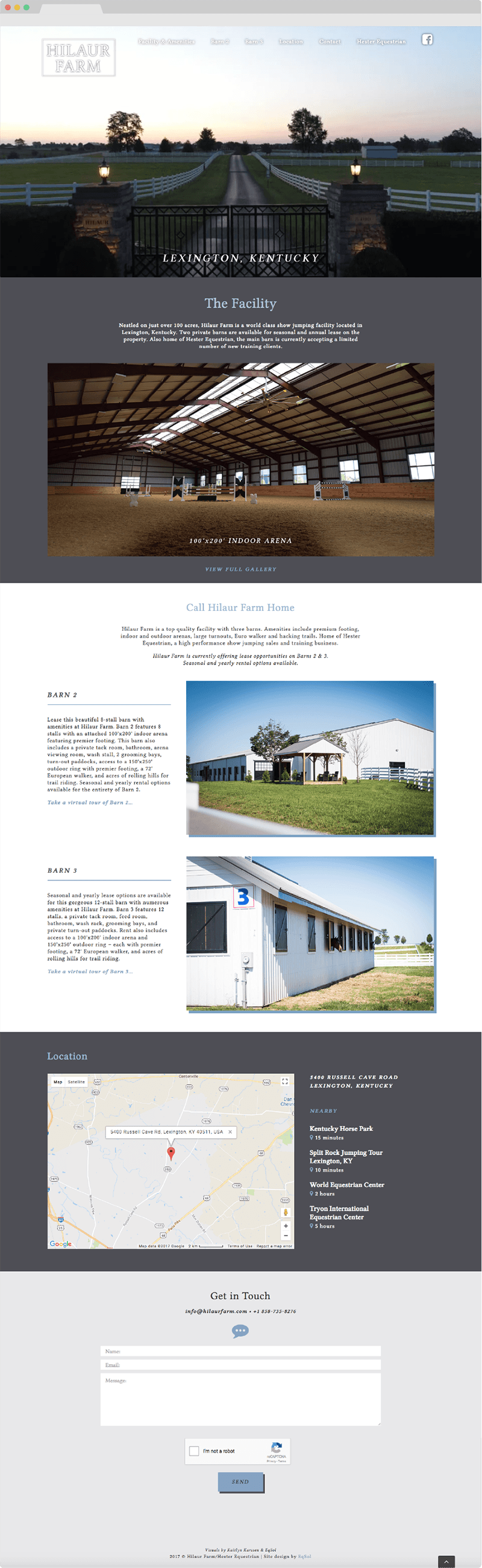 hilaur farm eqsol website design
