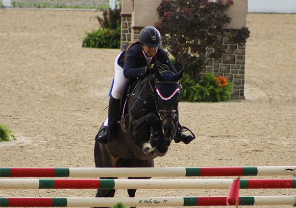 Lauren Hester and Warinde B compete in the $40,000 Bluegrass Grand Prix; photo by Haley Kane