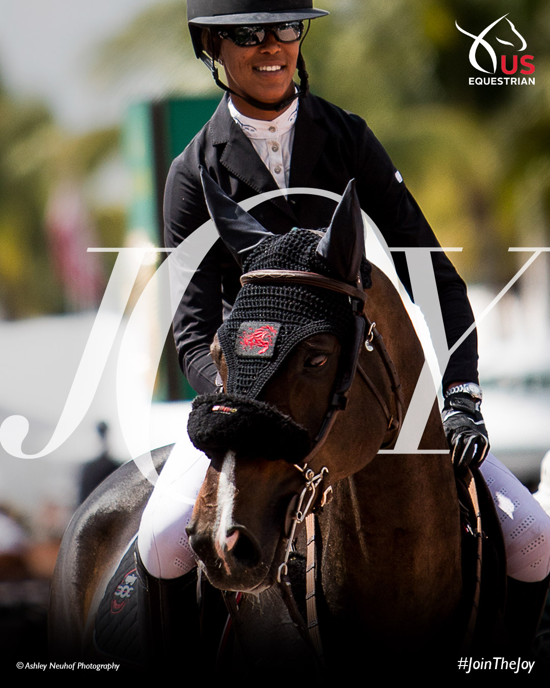 US equestrian ad featuring Mavis Spencer