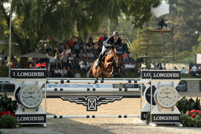 Luis Alejandro Placencia O and Davinci, winners of the Longines FEI World Cup™ Jumping Guadalajara; photo © Anwar Esquivel